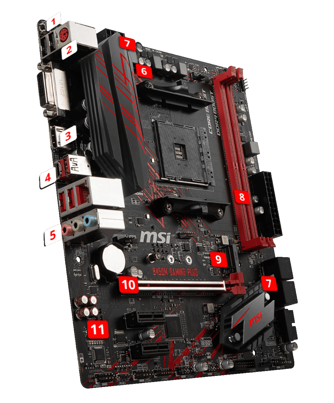 MSI B450m GAMING PLUS overview